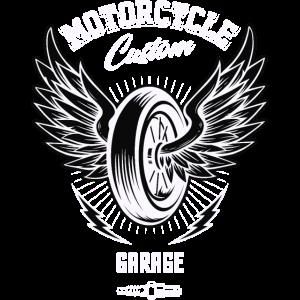 Motorcycle Custom Garage Rock Hobby Biker Geschenk