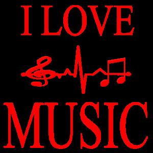 I LOVE MUSIC Heartbeat Music Lover