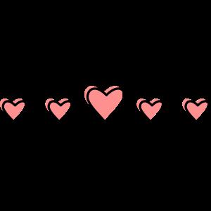 Herzchen in einer Reihe