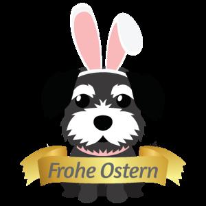 Border Terrier Frohe Ostern Hasenohren Hundebesitz