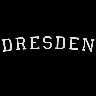 Dresden Germany Weiß/Schwarz - Dresden Germany Design. Zweifarbig Weiß/Schwarz. - uni universität,international,hochschule college campus,germany,german,dresdener,dresden,deutschland,deutsch