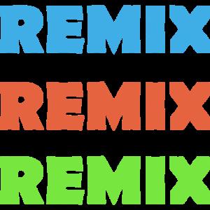 Musik Techno Hardstyle REMIX Schriftzug Spruch