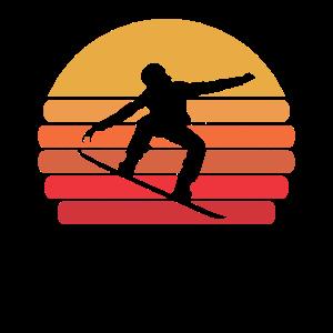 Snowboard Retro Vintage Snowboarder Geschenk