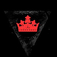 Krone im Dreieck im Kreis HEILIGE GEOMETRIE
