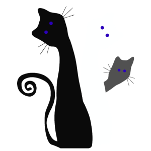 Neugierige Kätzchen grüßen den Tierfreund