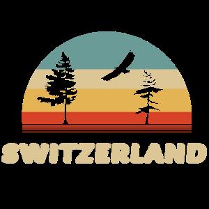 schweiz switzerland geschenk für retro farben