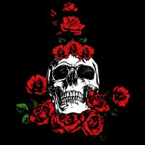 Totenkopf Rosen Pflanze Liebe