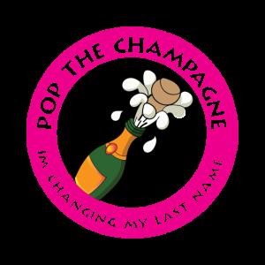 Junggessellinnenabschied Spruch Logo Champagner