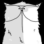 portrait d'un chat à lunettes