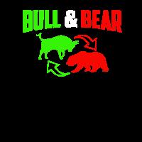 Trading - Aktien - Bull and Bear - Shirt