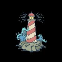 Niedlicher Leuchtturm Cartoon Kinder Tshirt