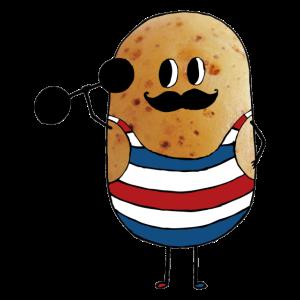 Zirkus starker Mann Kartoffel