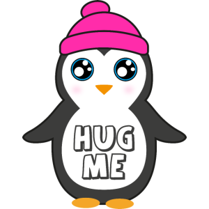 Süßer Pinguin Umarmung kuscheln