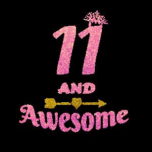 11. Geburtstagsgeschenk für Mädchen, 11 und tolle Mädchen