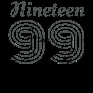 1999 nineteen 99 birthday present gift geburtstags