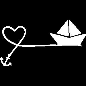 maritim herz anker boot