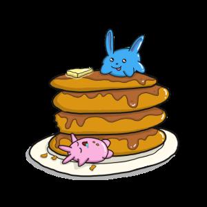 Pancake Kawaii Pfannkuchen mit Ahornsirup Geschenk