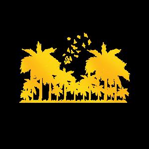 Goldene Palmen Strand warm