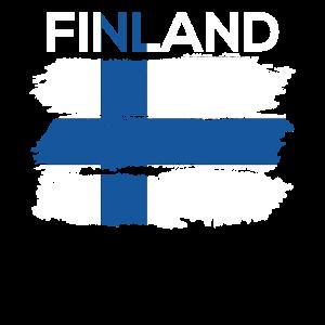 Finnland Finnische Flagge Nation Heimat Land
