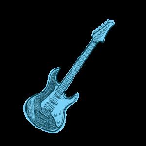 Blaue E-Gitarre, Gitarre