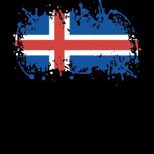 Iceland flag ink