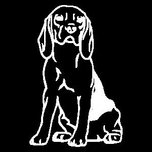 Beagle Hund Silhouette Geschenk