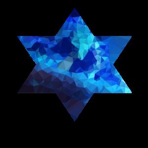 Stern blaue Polygone