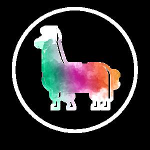Hippie Alpaka. Farben. Bunt. Tier. Geschenkidee