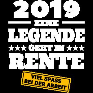 Rente 2019 Ruhestand Pension Geschenk