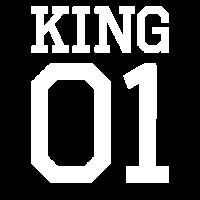 King 01 weiß used look Shirt