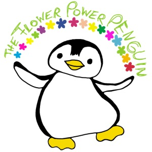 Pinguin Flower Power