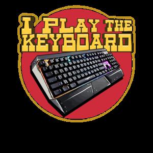 Computerspiel-Tastaturgraphik - lustiger Gamer