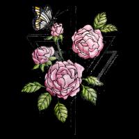 Triangle Roses - Vintage Design mit Wildrosen