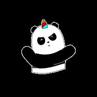 Ninja Panda Unicorn Einhorn