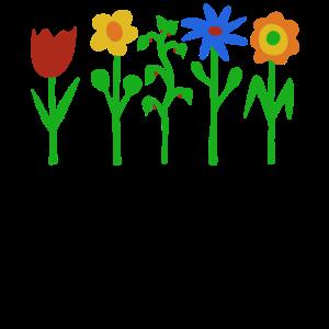 Bunte Blumenparade