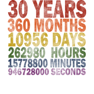 GAY 30 Jahre 30. Geburtstag Vintage Retro