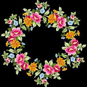 Blumenkranz Blumenranke Wunschname Mama Oma