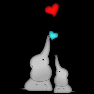 Elefanten Herz Luftballon Baby Geburtstag