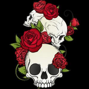 Skull Totenkopf Skelett Premium Bestseller Gothic