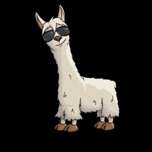 Cooles Hipster Lama mit Sonnenbrille Geschenk Yay