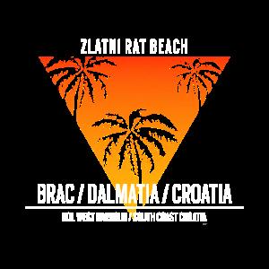 Zlatni Rat Beach Kroatien Dalmatia Reise Tshirt