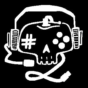 Gaming Gamepad Skull Online Gaming Shirt