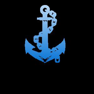 T-Shirt für Bootbesitzer Anker T-Shirt für Boot