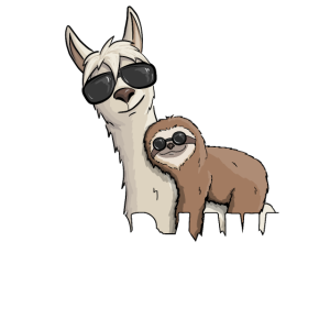 No Prob-Lama Kein Problem Faultier Lama Hipster