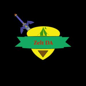 Zelt DA - Gaming T-Shirt mit Humor - Geschenk