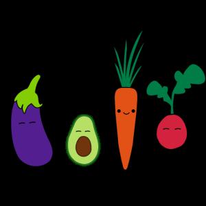 Gemüse Doodle Crew