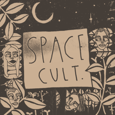 Retro Raum - Stofftasche mit Band Das Cover-Kunstmotiv von Space Cult. - Space,Raumkult,Kult