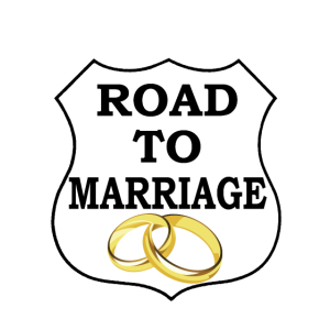 Road to Marriage JGA Junggesellenabschied T Shirt
