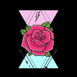 Rose mit Dreiecken
