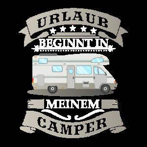 Urlaub beginnt in meinem Camper